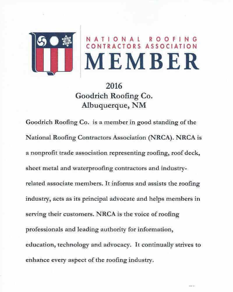 Certifications goodrich roofing albuquerque nm 2016 nrca membership letter xflitez Images