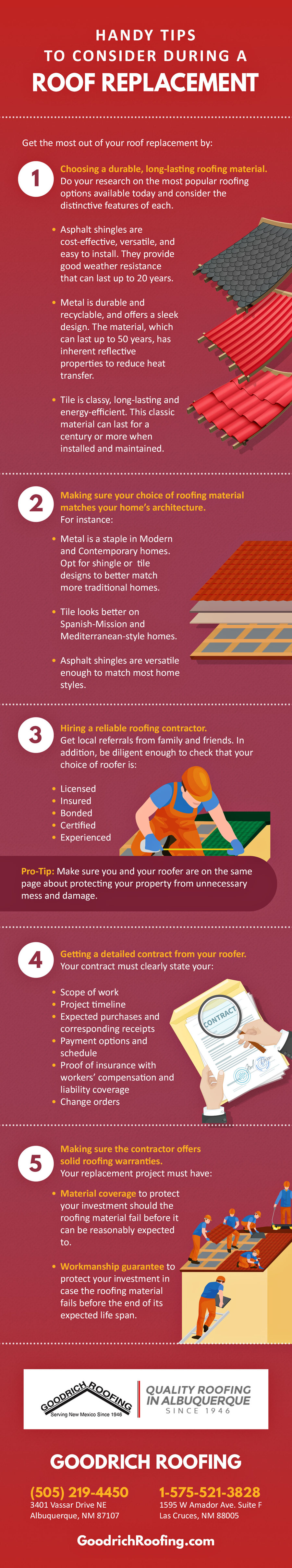 Infographic Handy Tips To Consider During A Roof Replacement